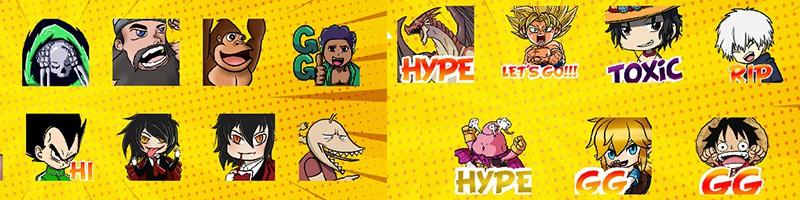 Anime Twitch Emotes gestalten