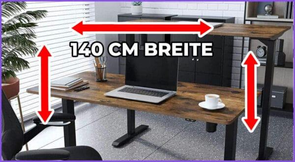Die besten 4 höhenverstellbaren Schreibtische mit 140 cm Breite