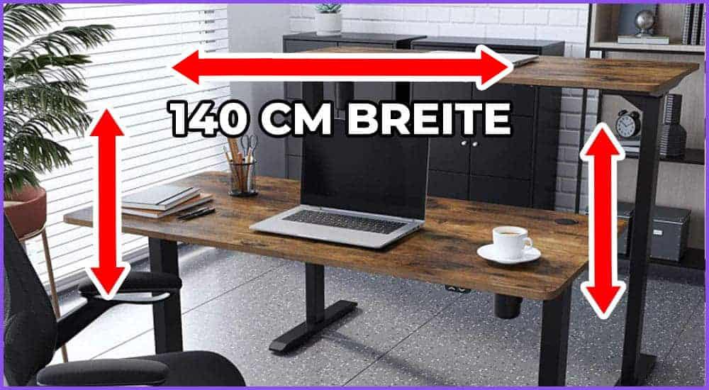 Höhenverstellbare Schreibtische 140 cm Breite