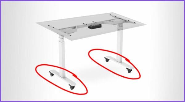 Gibt es höhenverstellbare Schreibtische mit Rollen? Top 3