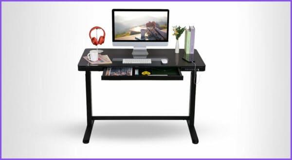 Gibt es höhenverstellbare Schreibtische mit Schubladen?