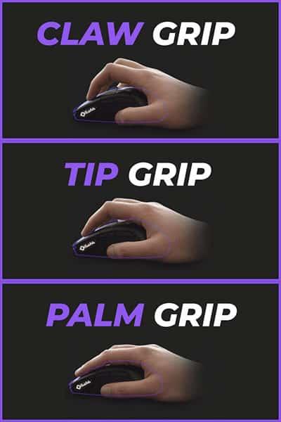 Handhaltung der Finger Maus Handgriffe