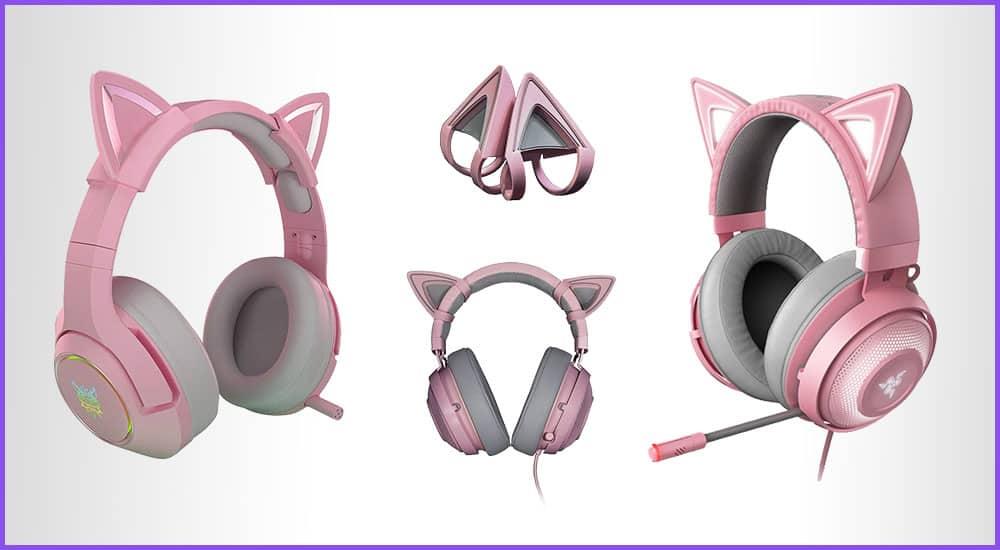 Gaming Headset mit Katzenohren