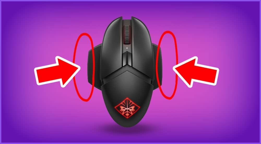 Gaming Maus mit Fingerauflagen