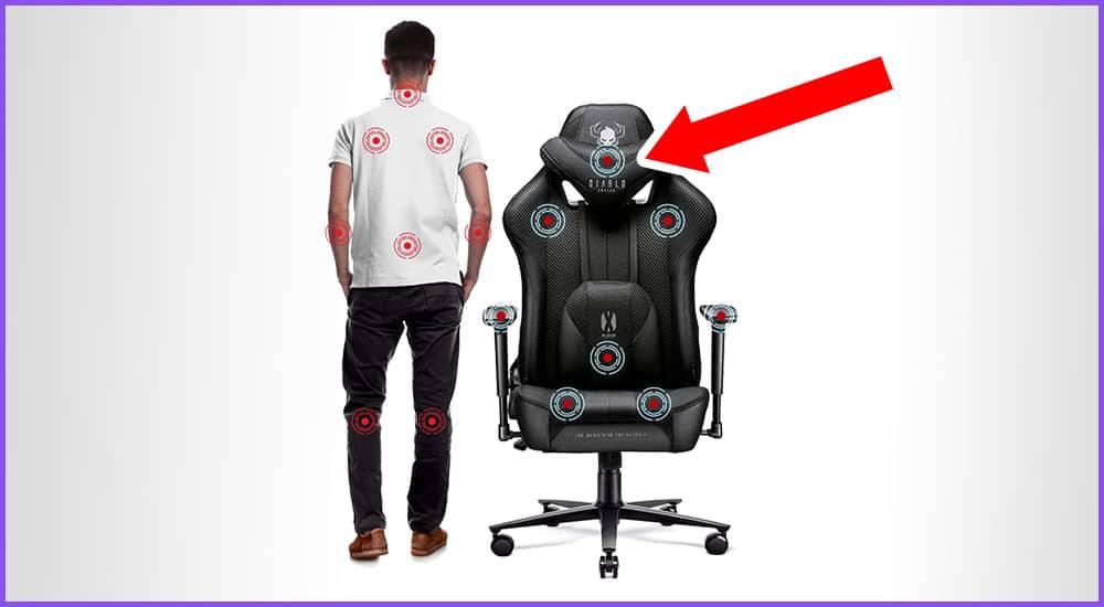 Gaming-Stuhl mit Kopfstütze