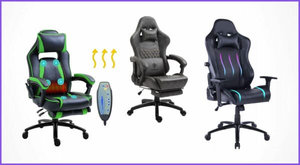 Die besten 4 Gaming-Stühle mit Massage und Wärmefunktion