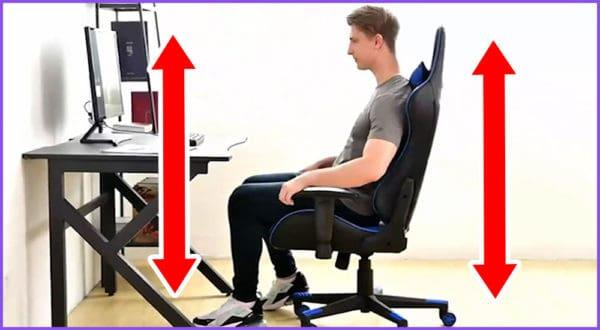 Gaming-Stuhl Sitzhöhen Rechner nach Körpergröße