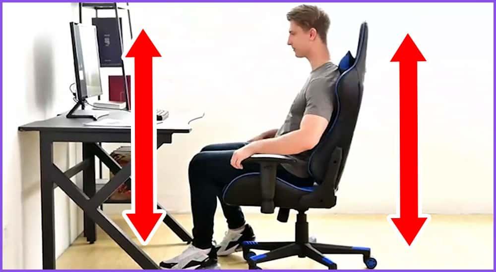 Welche Gaming-Stuhl Höhe für welche Körpergröße