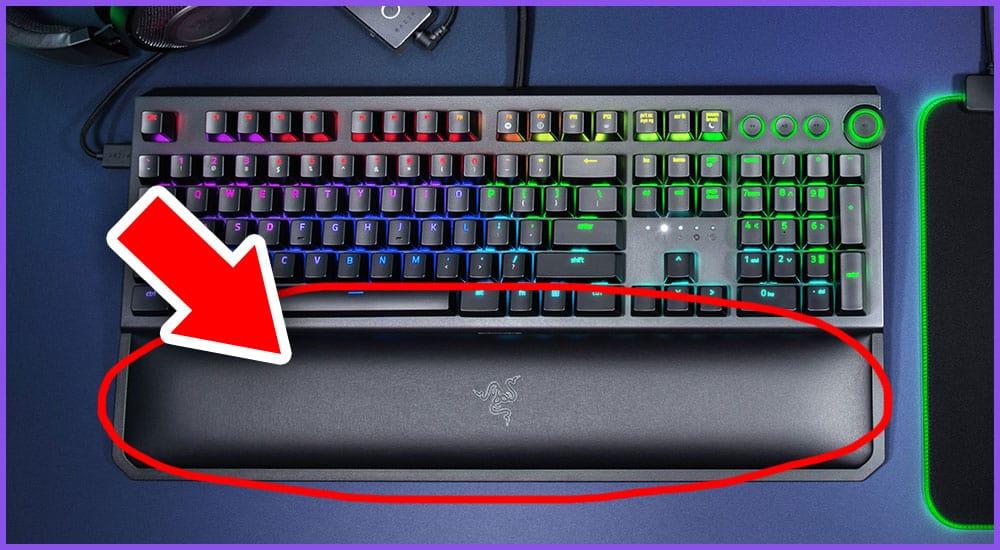 Gaming Tastatur mit Handballenauflage