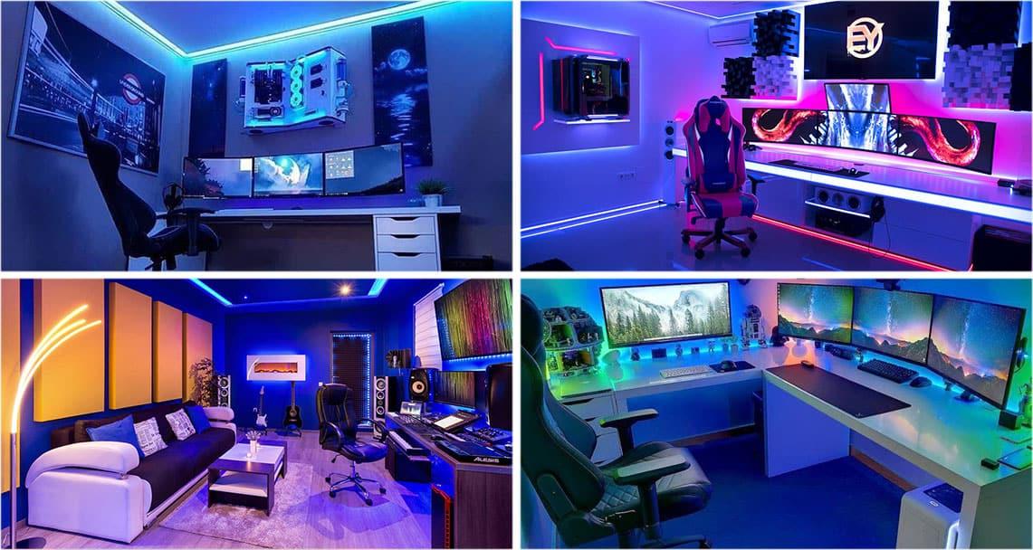 Gaming Zimmer Blau