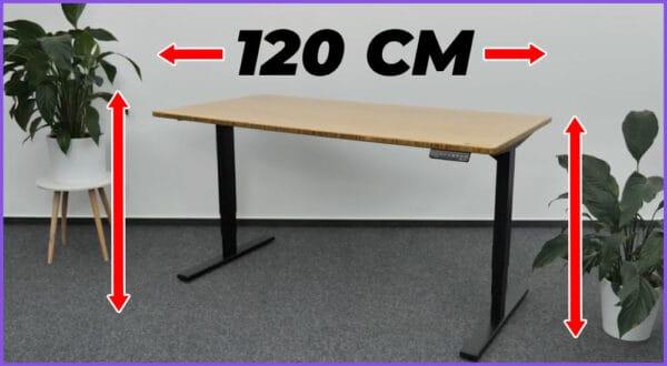 Die besten höhenverstellbaren Schreibtische mit 120 cm Breite