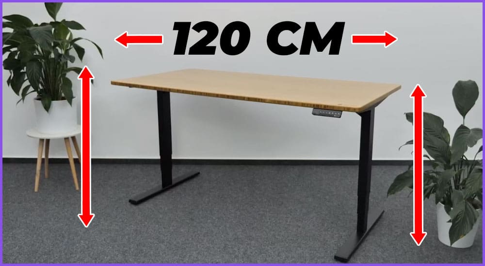 Höhenverstellbare Schreibtische mit 120 Zentimeter Breite