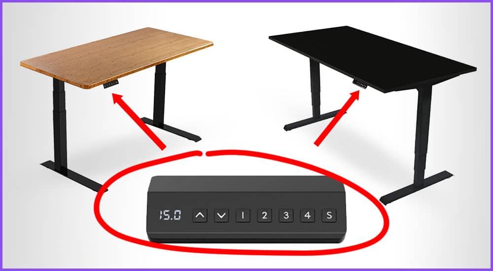 Höhenverstellbare Schreibtische mit Memory Funktion
