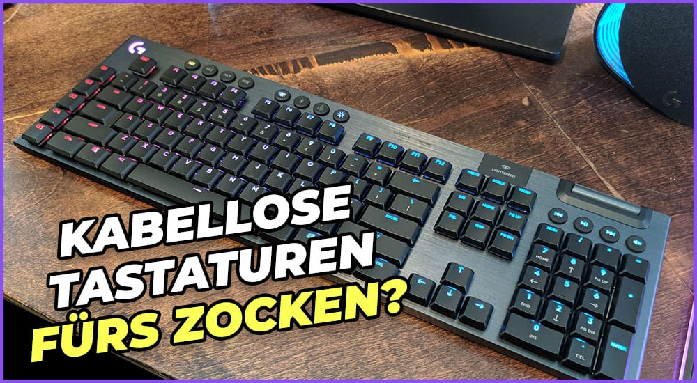 Sind kabellose Tastaturen fürs Spielen geeignet