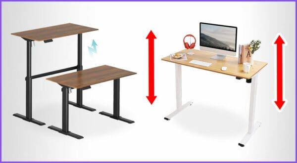 Die besten 3 kleinen höhenverstellbaren Schreibtische
