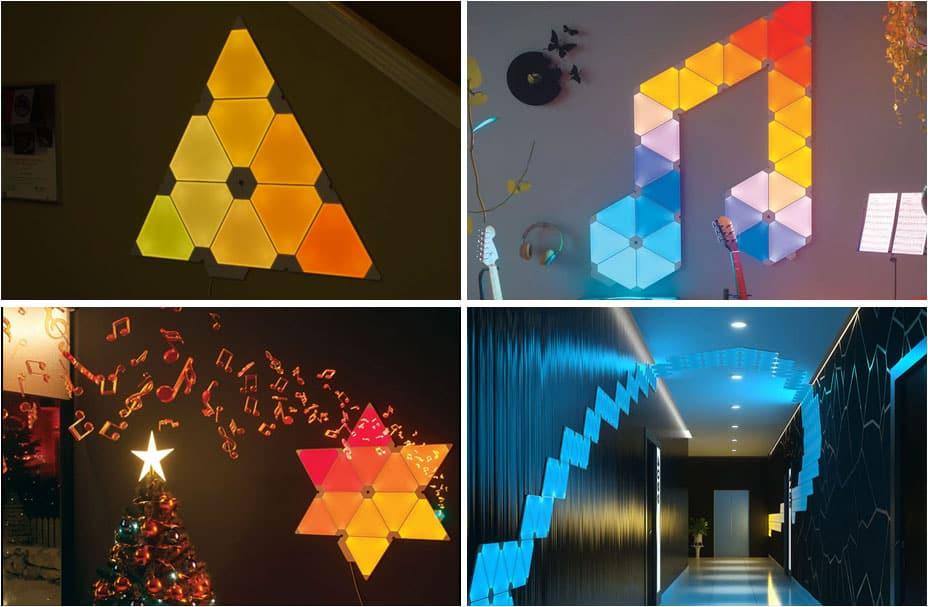 Nanoleaf Design Muster Ideen für Räume