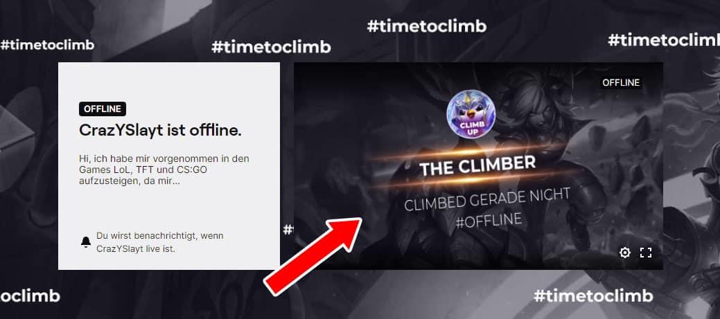 Twitch Offline Banner Beispiel