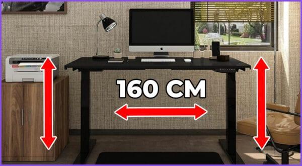 Die besten 5 höhenverstellbaren Schreibtische mit 160 cm Breite