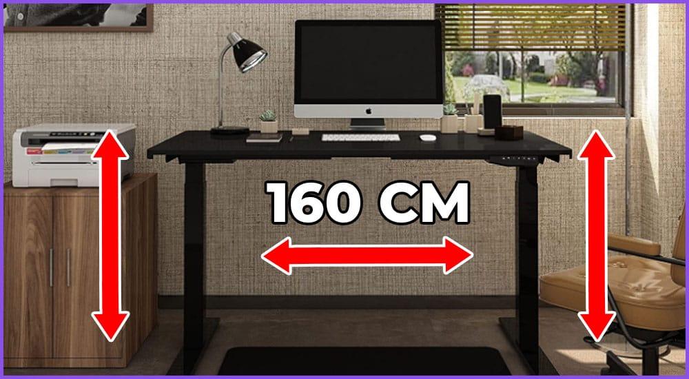 Höhenverstellbarer Schreibtisch 160 Zentimeter