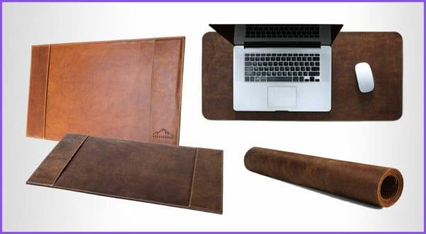 Die besten 5 Schreibtischunterlagen aus Leder