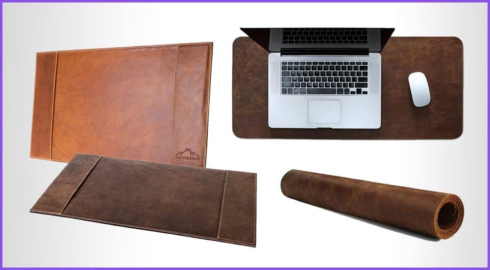 Schreibtischunterlage aus Leder