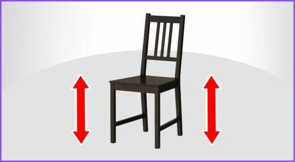 Stuhlhöhen-Rechner: Wie hoch sollte ein Stuhl sein?