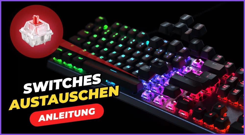 Tastatur Switches austauschen