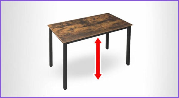Tischhöhen-Rechner: Wie hoch sollte ein Tisch sein?