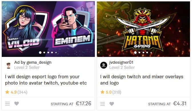 Twitch Logo Designer Beispiele