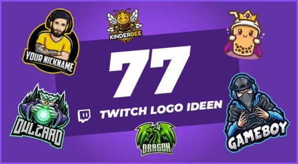 77 Twitch Logo Ideen (Inspiration & Anleitung)