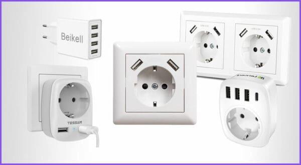 Die besten 3 USB-Ladegeräte für den Wand-Einbau