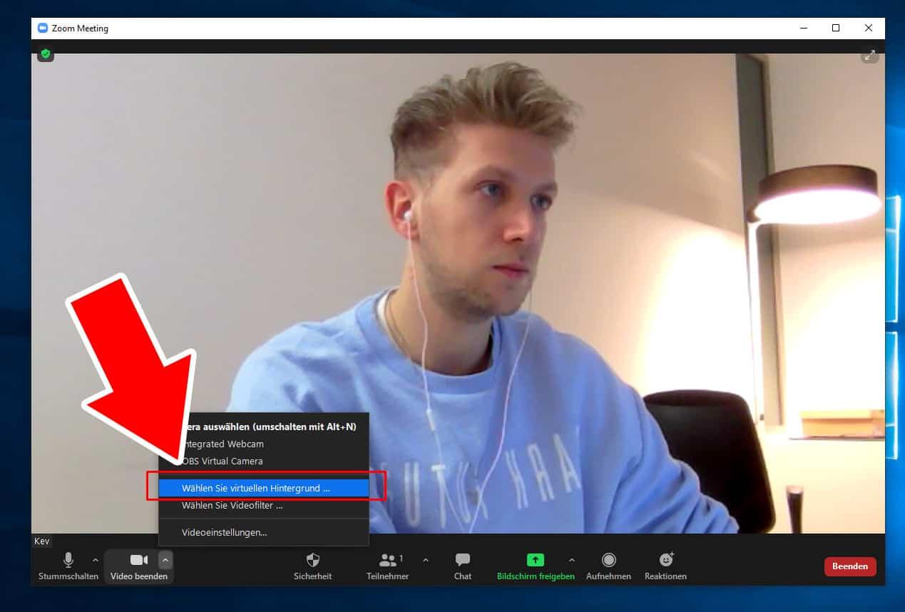 Zoom Hintergrund ändern Anleitung
