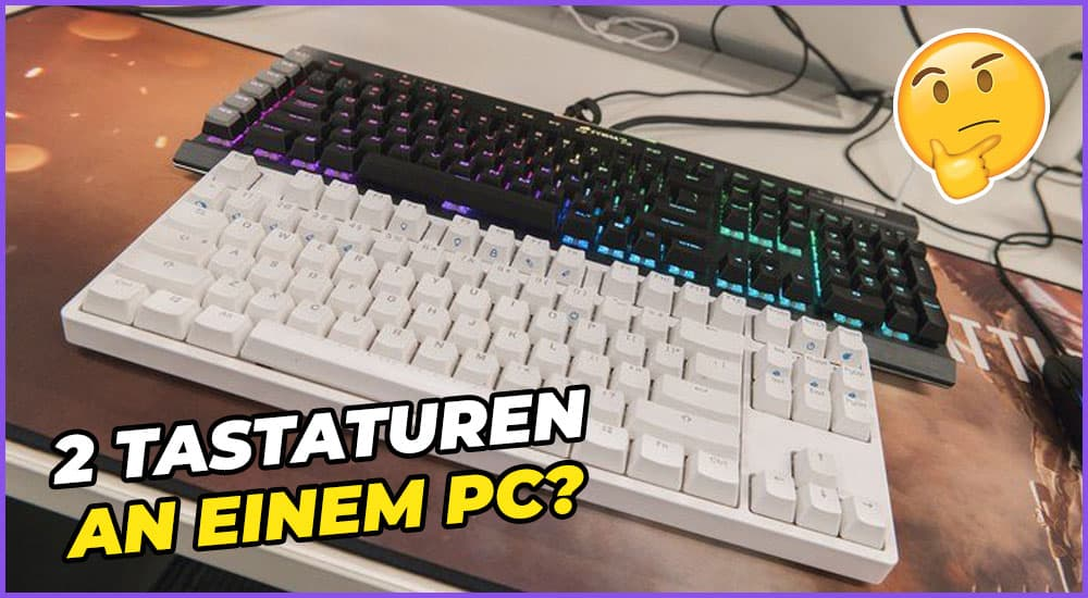 Zwei Tastaturen an einem PC
